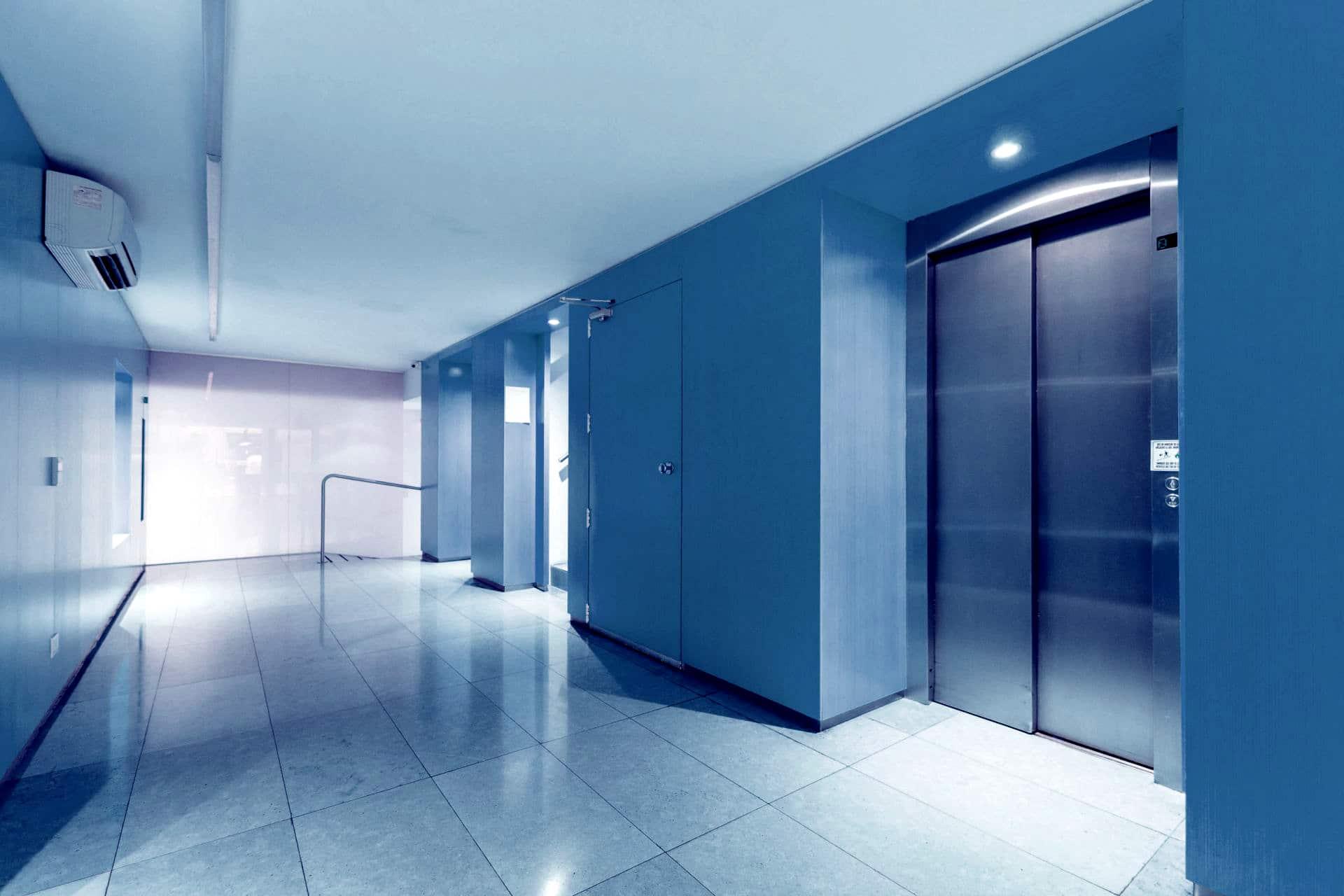 Aufzug - blau